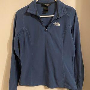 The North Face blue quarter zip